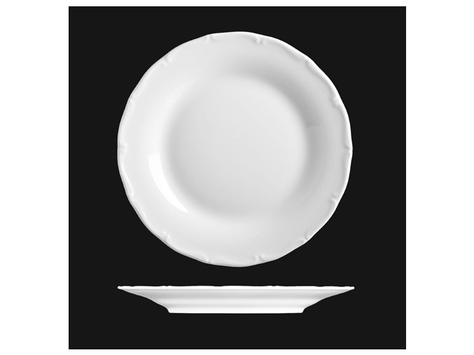 Talíř mělký 21 cm, bílý porcelán, Verona, G. Benedikt