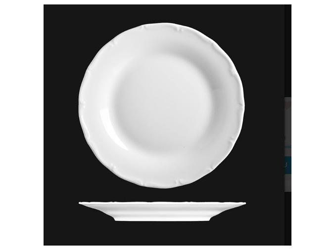 Talíř mělký 25 cm, bílý porcelán, Verona, G. Benedikt