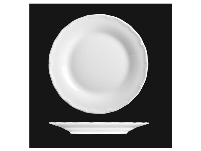 Talíř mělký 28 cm, bílý porcelán, Verona, G. Benedikt