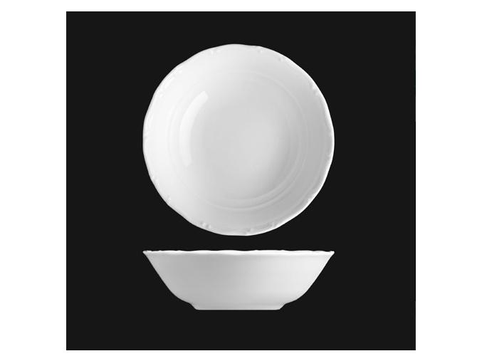 Miska kompotová 13 cm, bílý porcelán, Verona, G. Benedikt