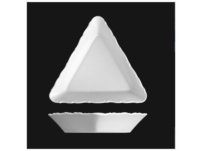 Miska kompotová trojhranná 19 cm, bílý porcelán, Verona, G. Benedikt