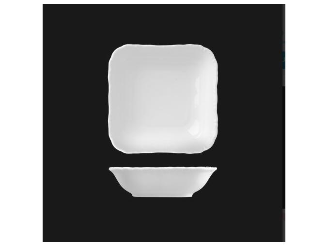 Miska kompotová čtyřhranná 13 cm, bílý porcelán, Verona, G. Benedikt