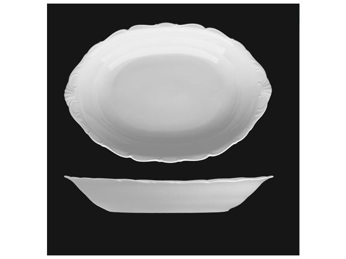 Koš na chléb 36 cm, bílý porcelán, Verona, G. Benedikt