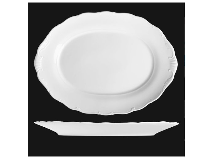 Mísa oválná 32 cm, bílý porcelán, Verona, G. Benedikt
