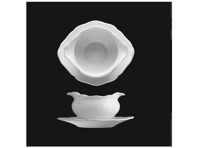 Omáčník 450 ml, bílý porcelán, Verona, G. Benedikt