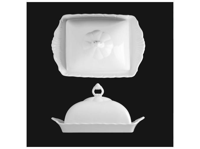 Máslenka 20x14 cm, bílý porcelán, Verona, G. Benedikt