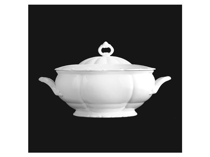 Polévková mísa 2,50 l, bílý porcelán, Verona, G. Benedikt