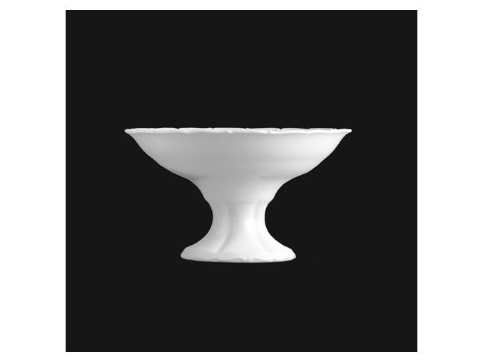 Kompotová miska na nožce 15 cm, bílý porcelán, Verona, G. Benedikt