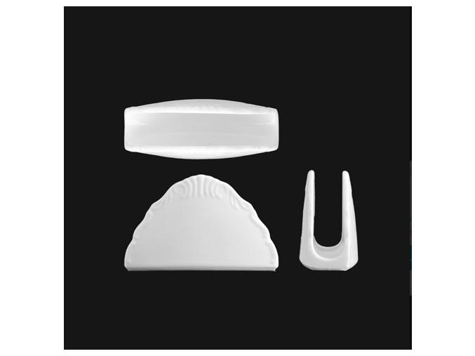 Stojánek na ubrousky, bílý porcelán, Verona, G. Benedikt