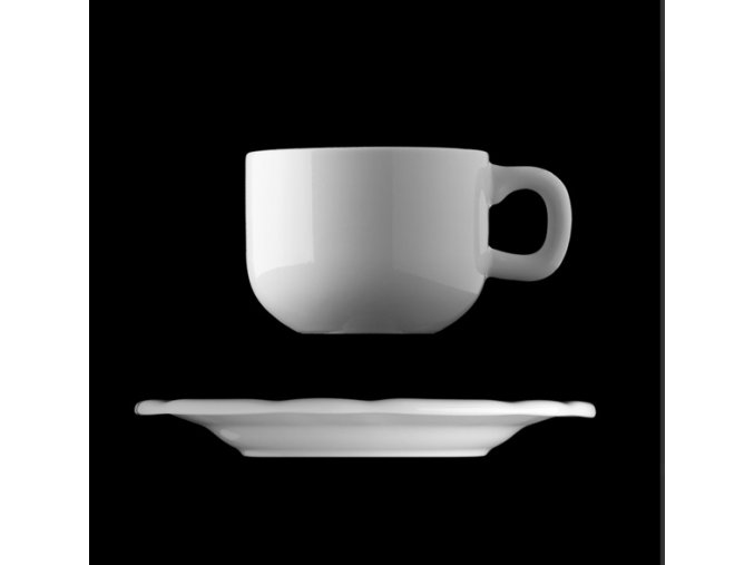 Šálek s podšálkem 200 ml, český porcelán, Benedikt, G. Benedikt