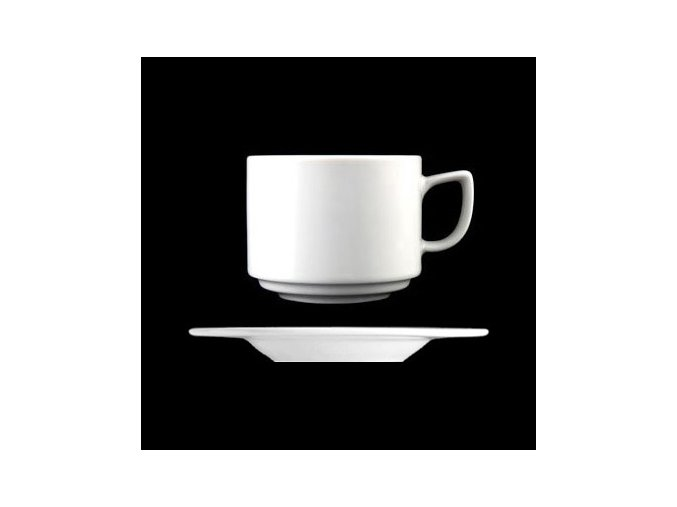 Šálek s podšálkem 200 ml, bílý porcelán, Ess-Klasse, Lilien