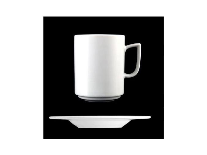 Šálek s podšálkem 330 ml, bílý porcelán, Ess-Klasse, Lilien