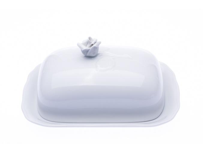 porcelánová máslenka bílá, český porcelán