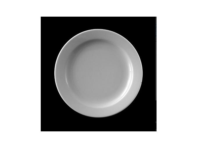 Talíř mělký 31 cm, bílý porcelán, Praha, G. Benedikt