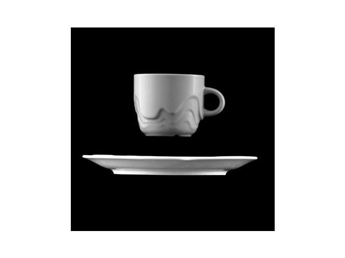 Šálek s podšálkem 110 ml, bílý porcelán, Melodie, G. Benedikt