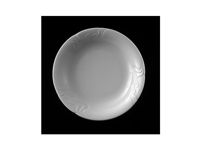 Talíř hluboký 22 cm, bílý porcelán, Melodie, G. Benedikt