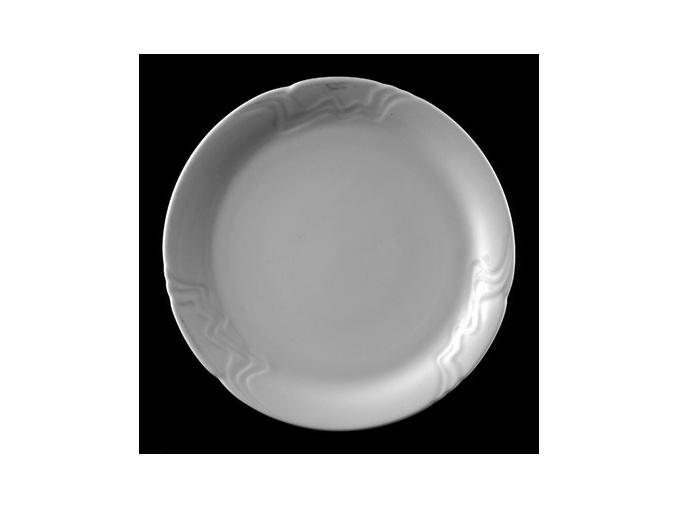 Talíř mělký 27 cm, bílý porcelán, Melodie, G. Benedikt