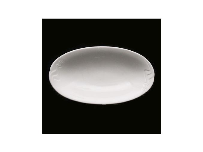 Mísa přílohová24x14 cm, bílý porcelán, Melodie, G. Benedikt