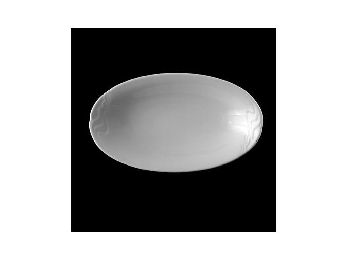 Podnos oválný 28 cm, bílý porcelán, Melodie, G. Benedikt