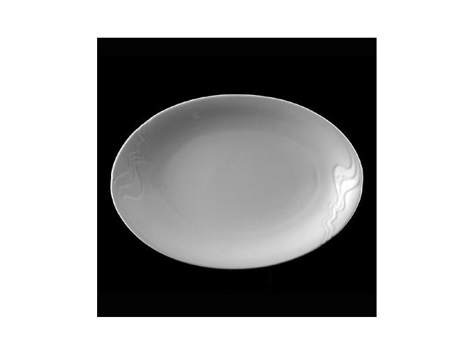 Podnos oválný 36 cm, bílý porcelán, Melodie, G. Benedikt