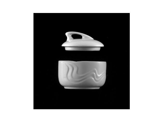Cukřenka 9 cm, bílý porcelán, Melodie, G. Benedikt