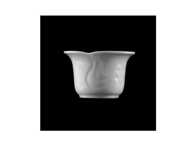 Svícen 6 cm, bílý porcelán, Melodie, G. Benedikt