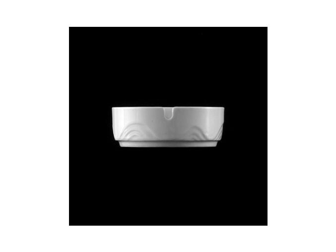 Popelník 10 cm, bílý porcelán, Melodie, G. Benedikt
