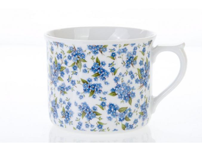 porcelánový mhrnek vařák pomněnky porcelánový svět