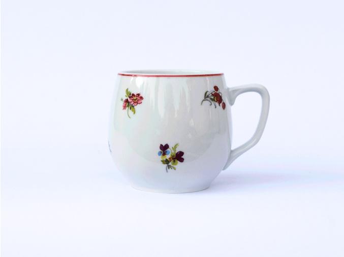 hrnek banak hazenka s cervenou linkou cesky porcelan