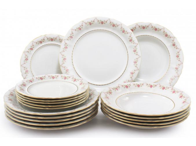 talirova sada 18 ti dilna girlanda z ruzi leander porcelanovy svet