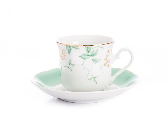 Mary-Anne, čajový šálek s podšálkem, rybíz