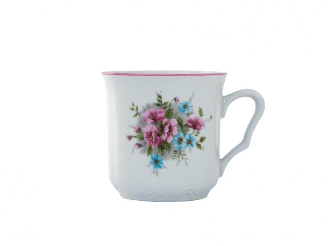 Hrnek Karel 0,27 l, Český porcelán Dubí, jemné květy