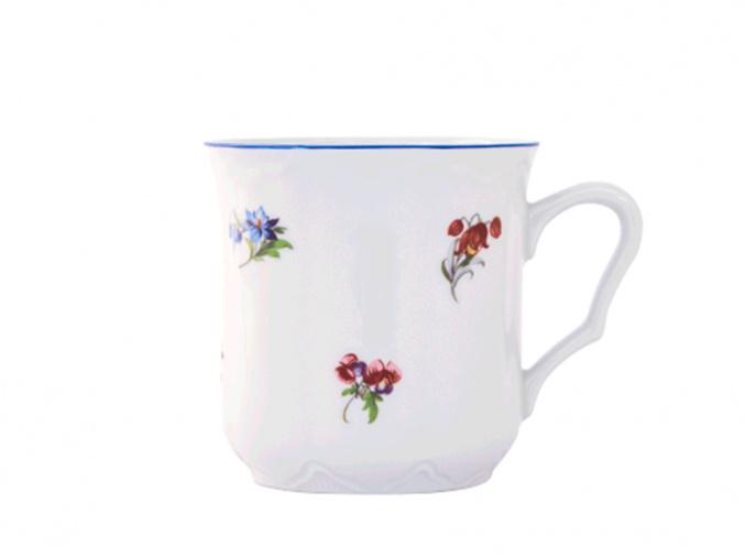 hrnek karel hazenka modry prouzek cesky porcelan