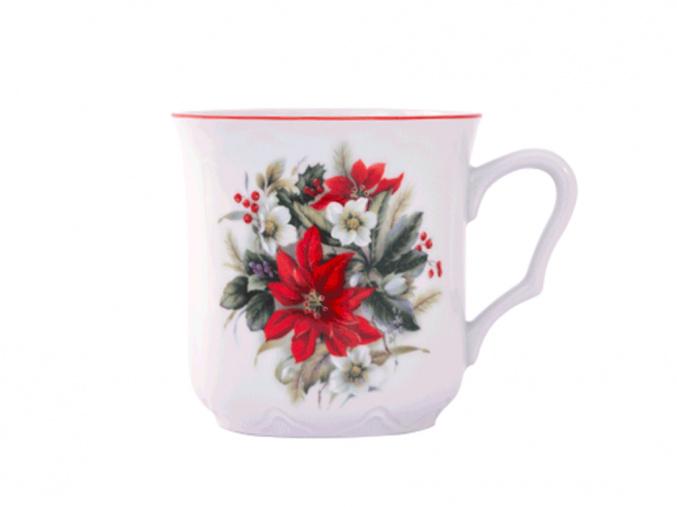 hrnek karel vanocni ruze cesky porcelan