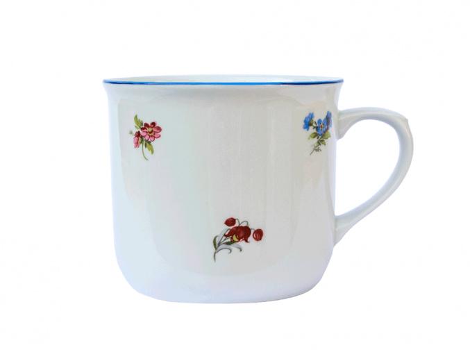 hrnek varak hazenka modra linka cesky porcelan