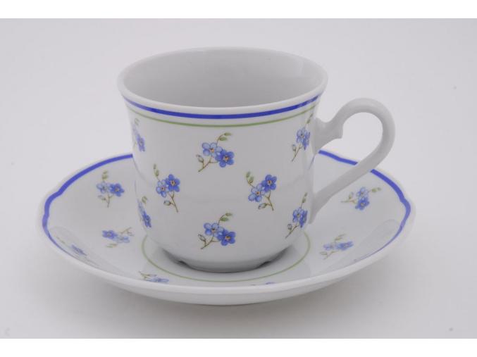Mary-Anne, kávový šálek 0,15 l s podšálkem, pomněnky, Leander