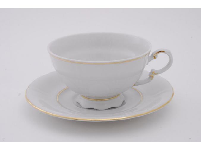 Sonáta, čajový šálek s podšálkem, zlatá linka
