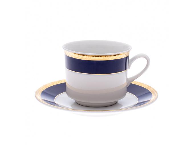 Sabina, šálek čajový, 200 ml, kobalt, zlatý cop