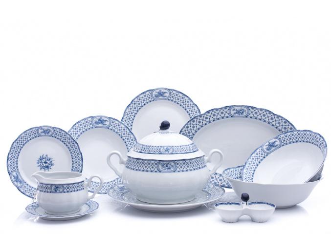 Rose, jídelní souprava, modrá stuha, Thun, 25 d.