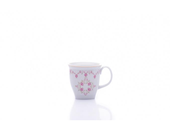 hrnek hranatý růžičky leander porcelanovy svet