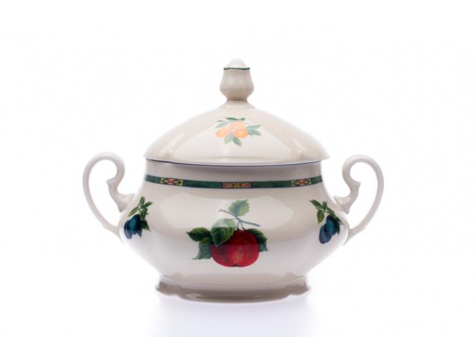 mísa na polévku terina 2,5 l slonová kost český porcelán leander