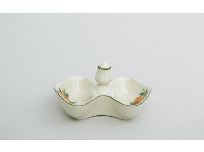 Slánka - pepřenka, ovoce, slonová kost, porcelán Leander