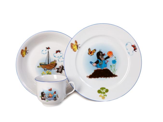 Krtecek a motyli detska souprava porcelanovy svet