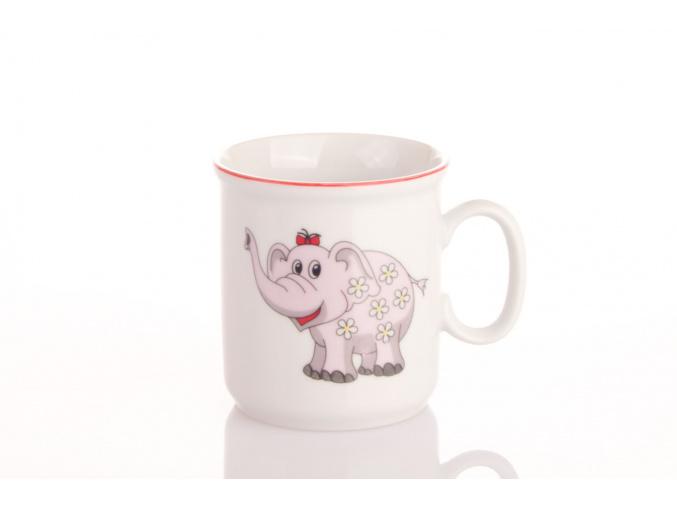 detsky hrnek ruzovy slonik český porcelan porcelanovy svet