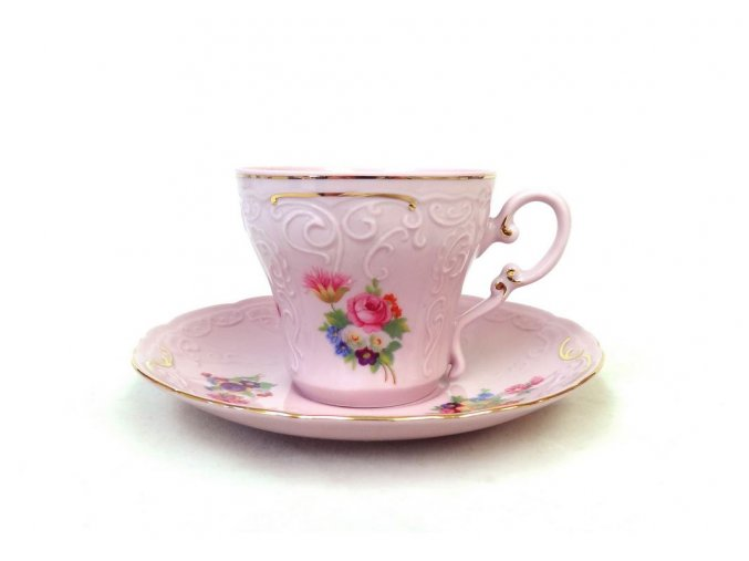 Ela, šálek s podšálkem, růžový, 150 ml, Leander
