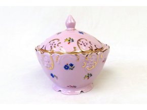 Dóza kulatá 12,5 cm, růžový porcelán