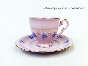 Sonáta, kávový šálek s podšálkem, růžový porcelán, 200 ml, Leander