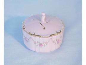 Dóza kulatá 7 cm, růžový porcelán