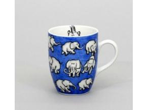 Eva, hrnek 0,37 l, sloni (modrý)