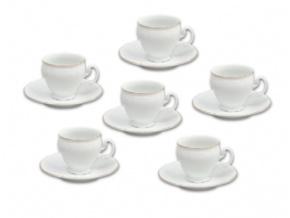 Bernadotte, salky a podsalky kavové, zlata linka, Thun,